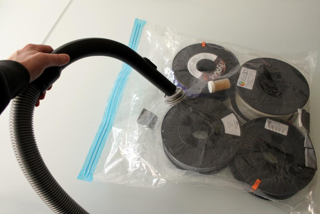 Vacuum bag long term filament storage